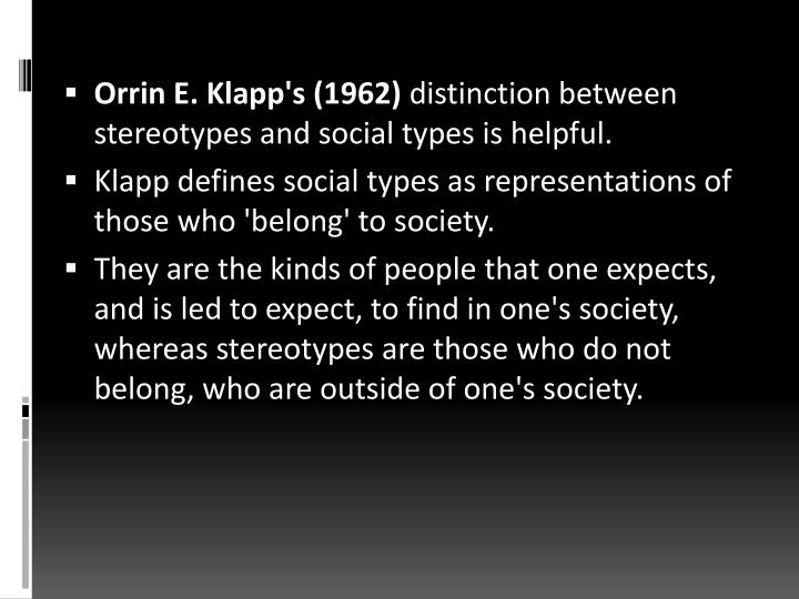 Orrin E. Klapp's (1962)