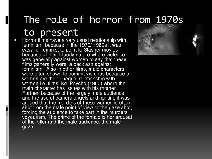 The role of horror from 1970s to present
