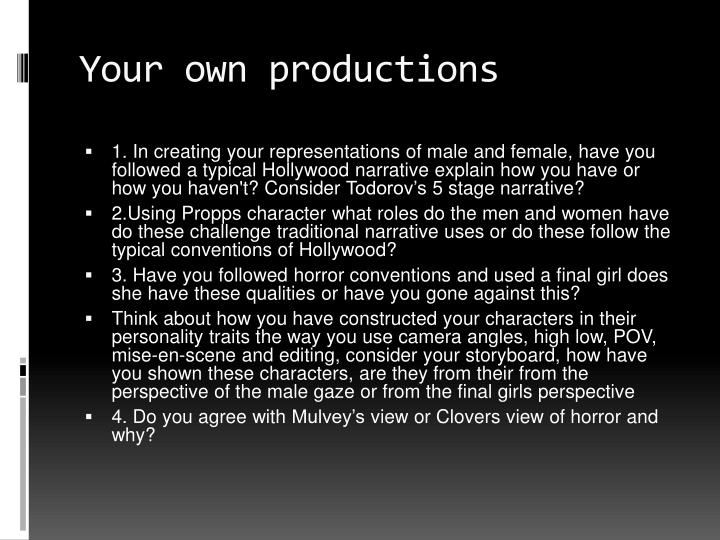 Your own productions