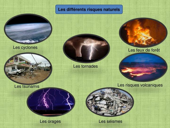 Les différents risques naturels
