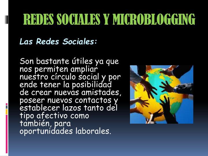 REDES SOCIALES Y MICROBLOGGING