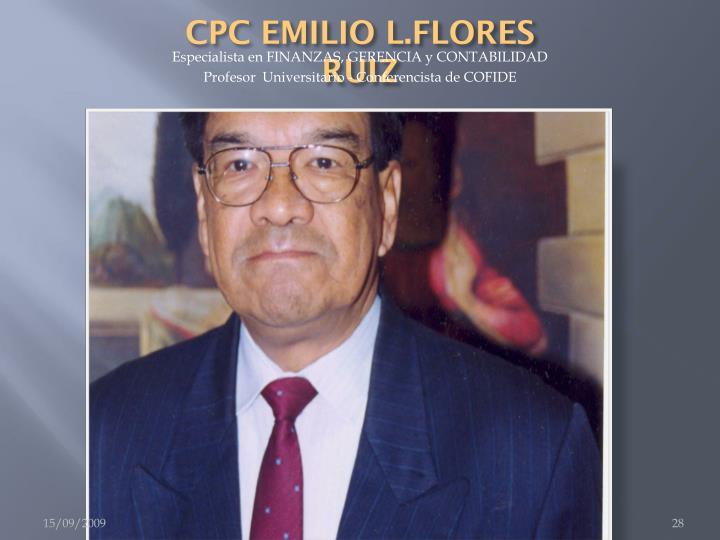 CPC EMILIO L.FLORES RUIZ