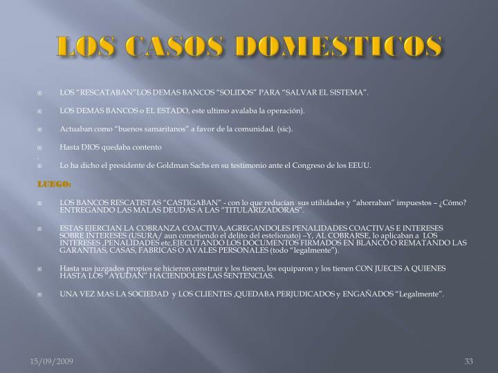 LOS CASOS DOMESTICOS