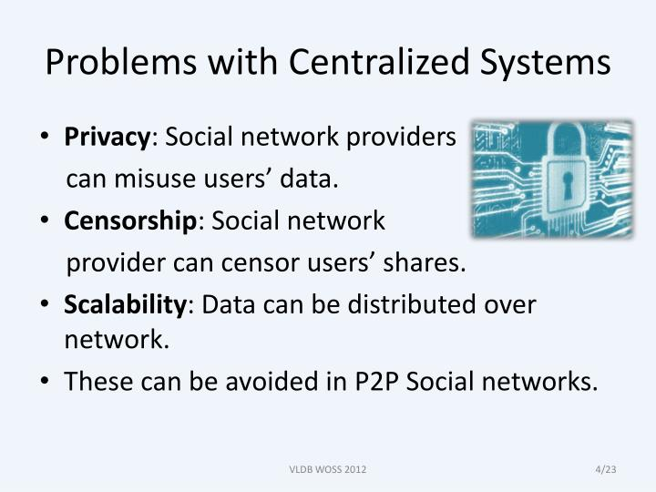 Problems with Centralized Systems