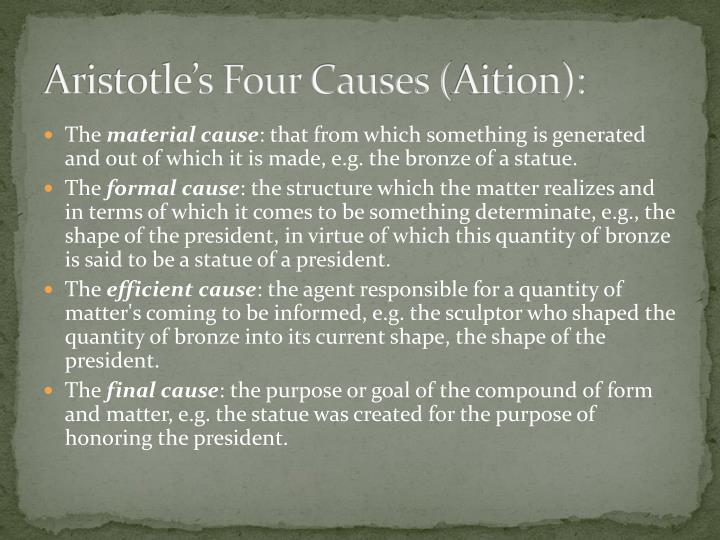 Aristotle's Four Causes (