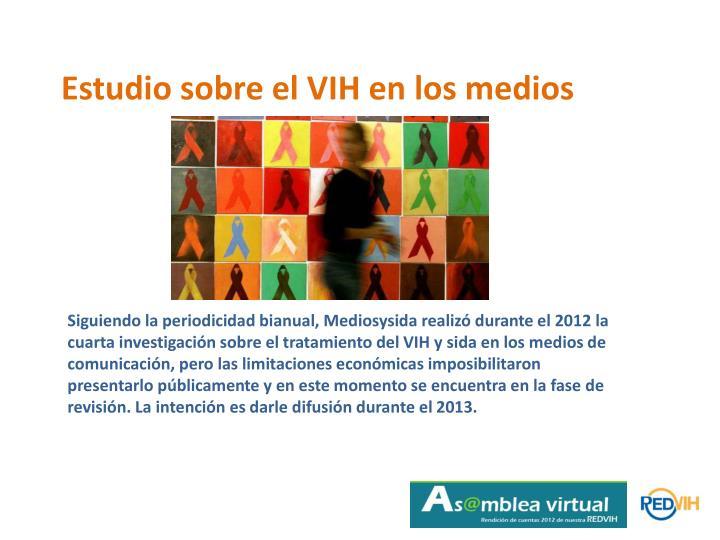 Estudio sobre el VIH en los medios