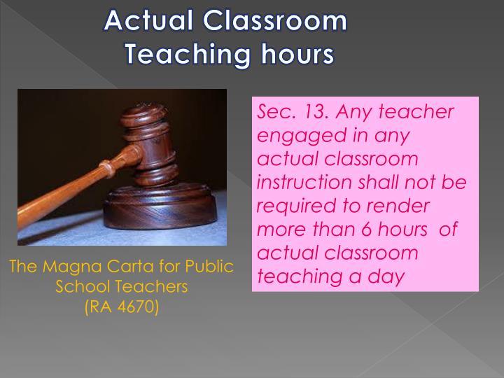 Actual Classroom