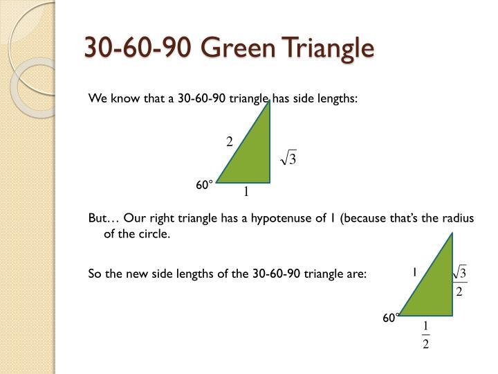 30-60-90 Green Triangle