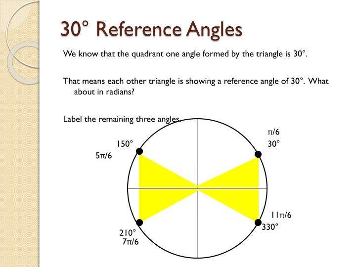 30° Reference Angles