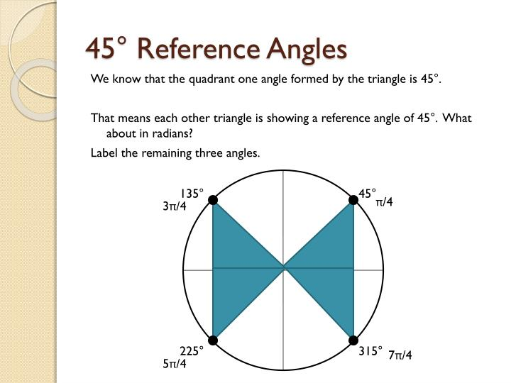 45° Reference Angles