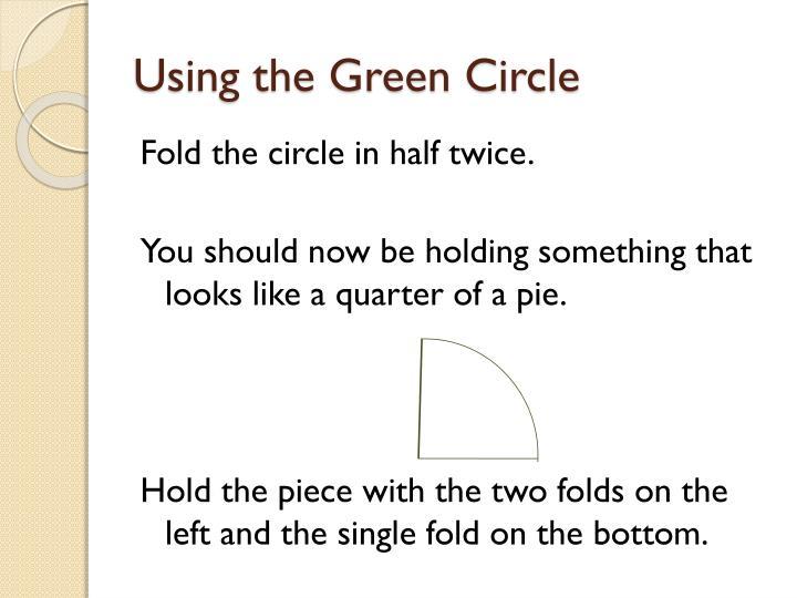 Using the Green Circle