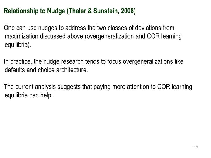 Relationship to Nudge (
