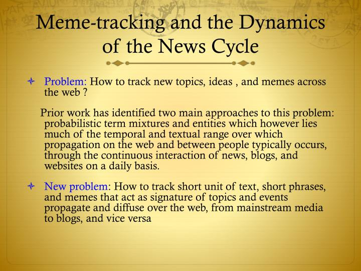 Meme-tracking and the Dynamics of the News Cycle