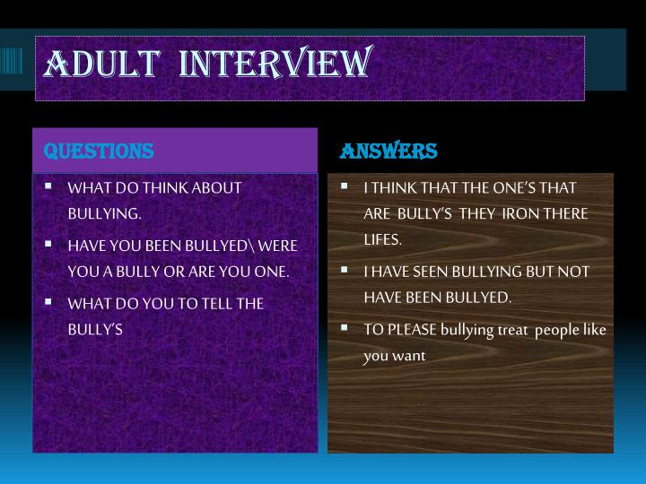 adult  interview