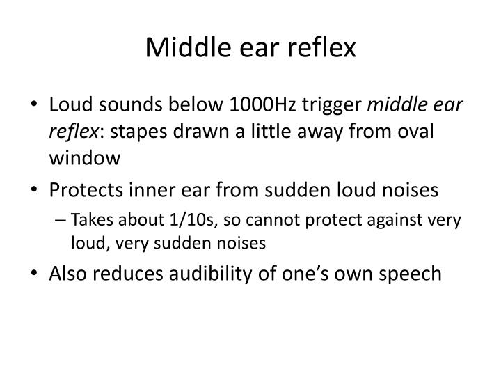 Middle ear reflex