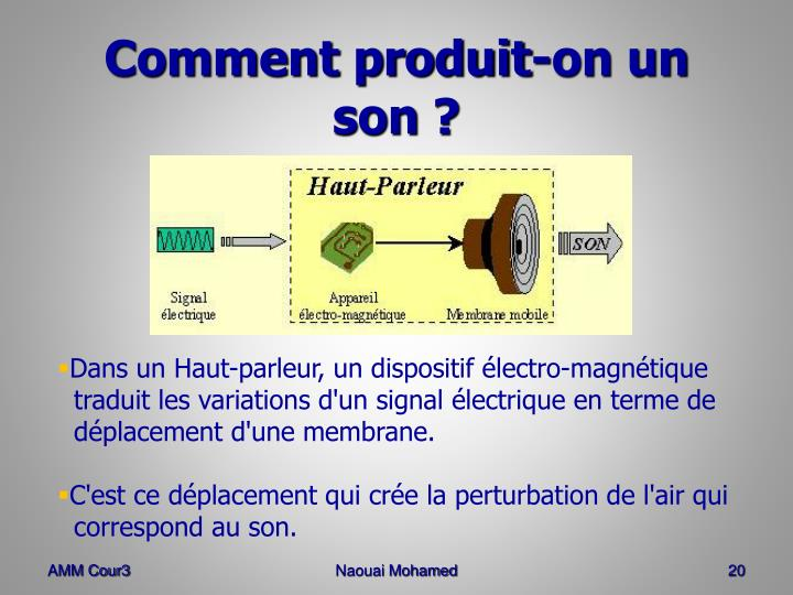 Comment produit-on un son ?