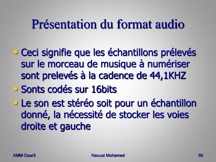 Présentation du format audio