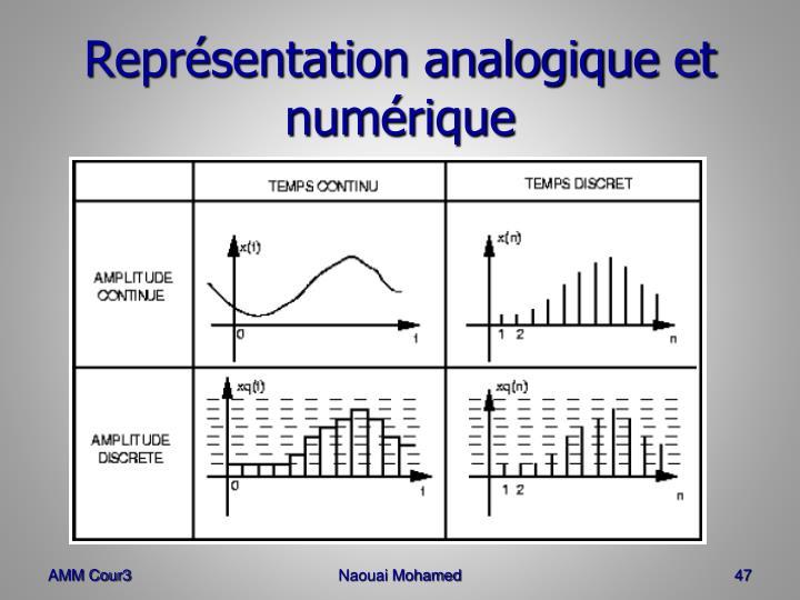 Représentation analogique et