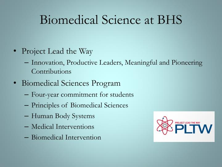 Biomedical Science at BHS