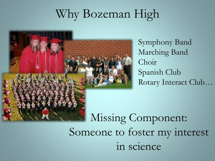 Why Bozeman High