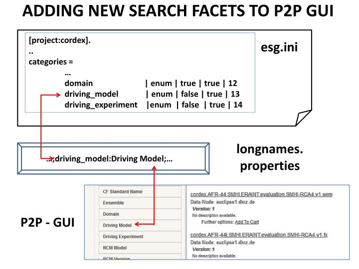 ADDING NEW SEARCH FACETS TO P2P GUI