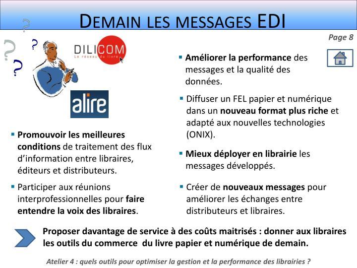 Demain les messages EDI