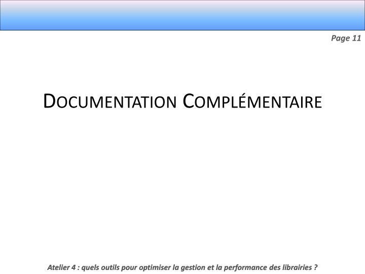 Documentation Complémentaire