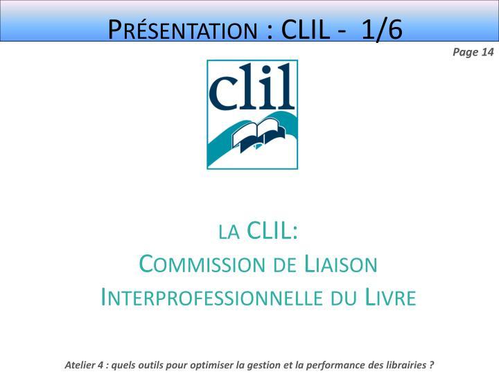Présentation : CLIL -  1/6