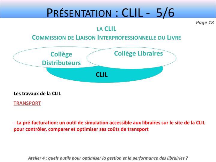 Présentation : CLIL -  5/6