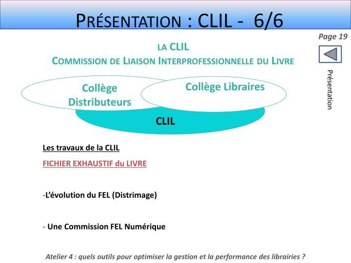 Présentation : CLIL -  6/6