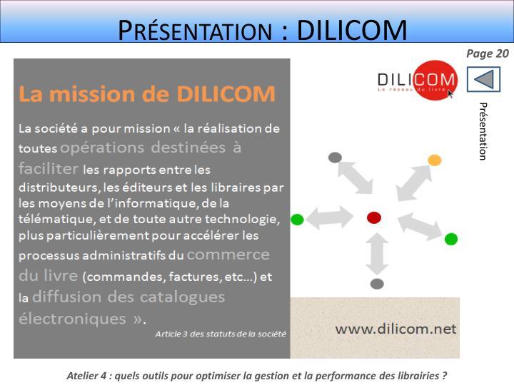 Présentation : DILICOM