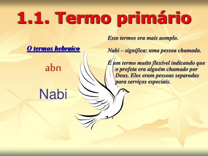 1.1. Termo