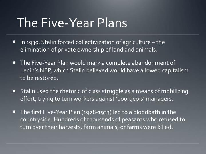 The Five-Year Plans