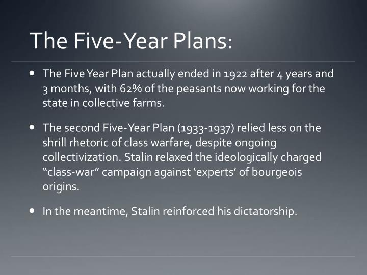 The Five-Year Plans: