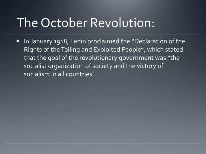The October Revolution: