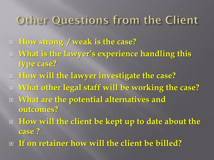 the lawyer client relationship Let's face it, when it comes to certain legal issues, you might find that an attorney is your best bet at a resolution but your first time hiring an attorney doesn't have to be complicated.