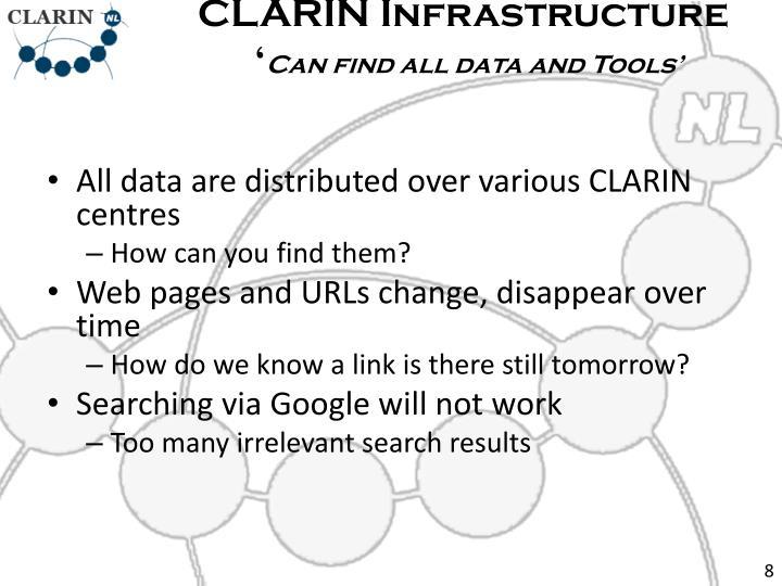 CLARIN Infrastructure