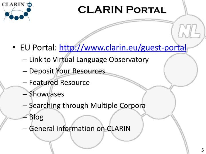 CLARIN Portal