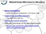 meertens metadata search