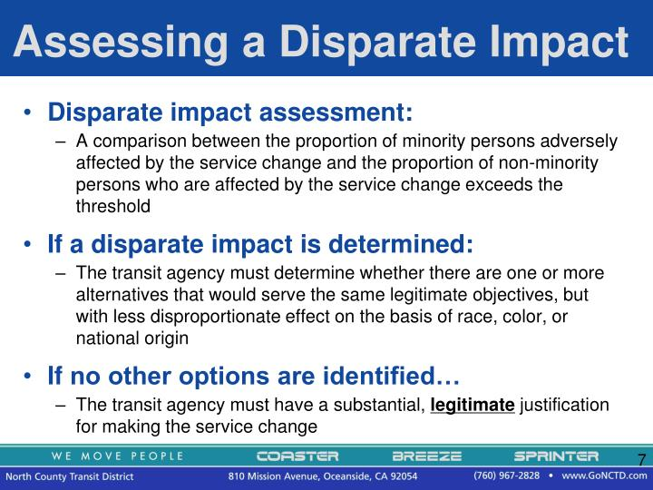 Assessing a Disparate Impact