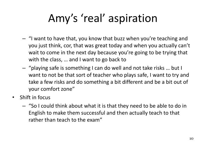 Amy's 'real' aspiration