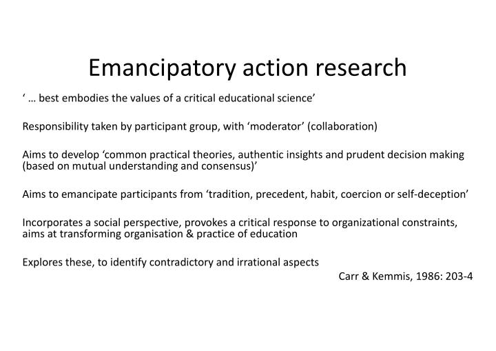 Emancipatory action research