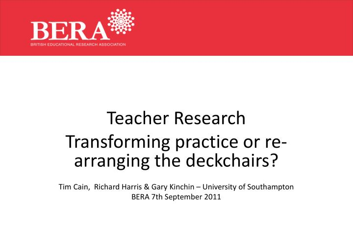 Teacher Research
