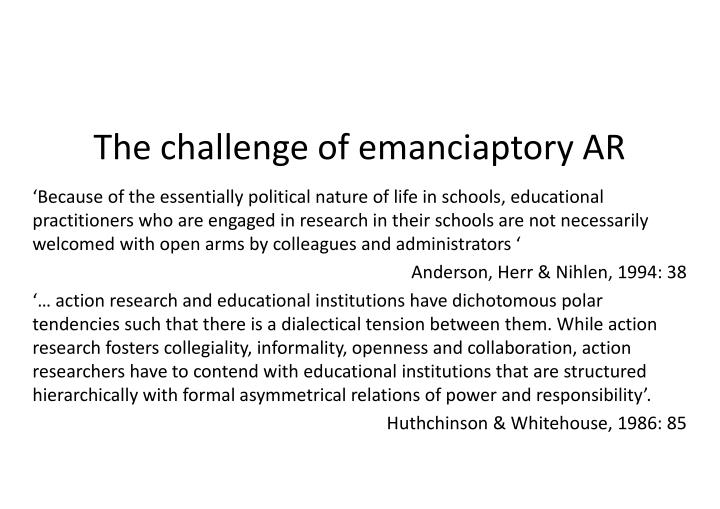The challenge of emanciaptory AR