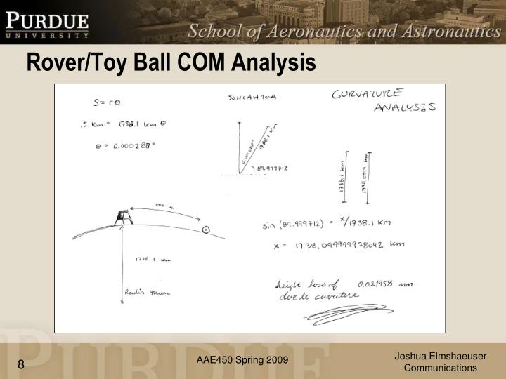 Rover/Toy Ball COM Analysis