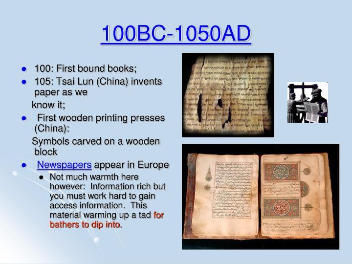100BC-1050AD