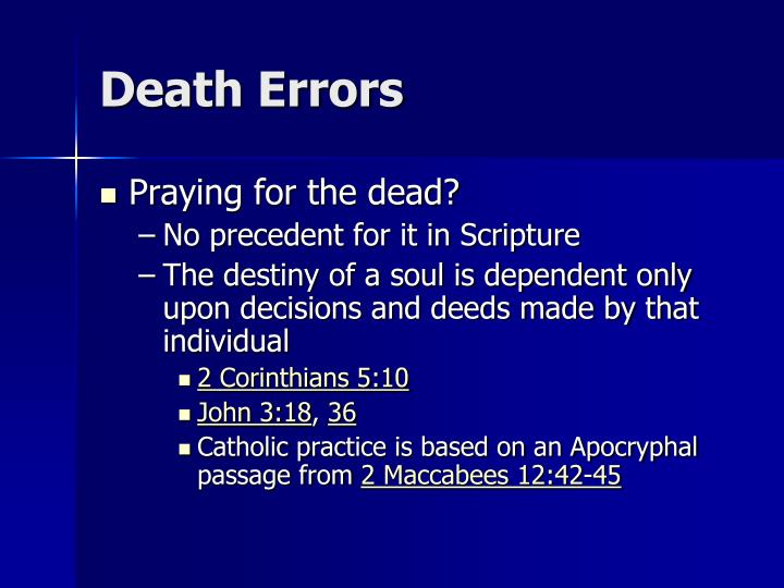 Death Errors