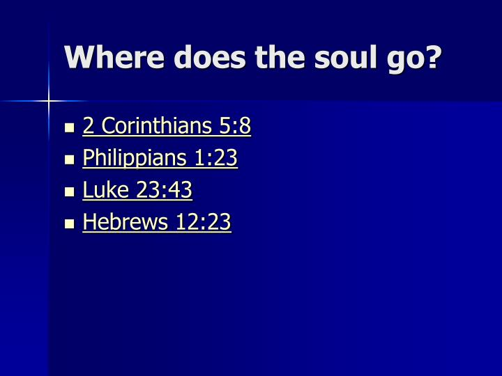 Where does the soul go?