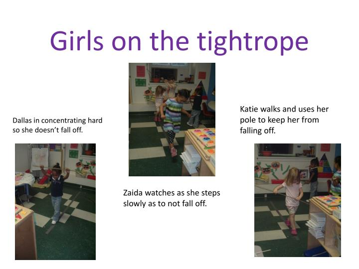 Girls on the tightrope