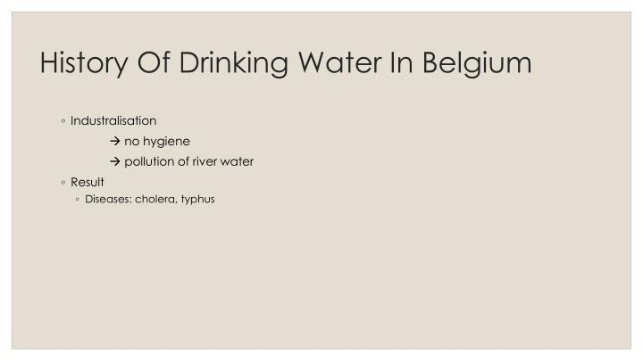 History Of Drinking Water In Belgium